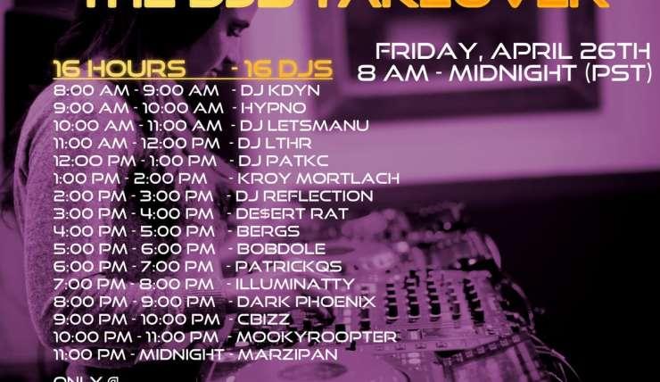 Diesen Freitag – THE DJS TAKEOVER!